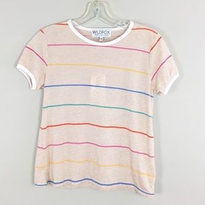 WILDFOX | Colorful Striped Tee - M1